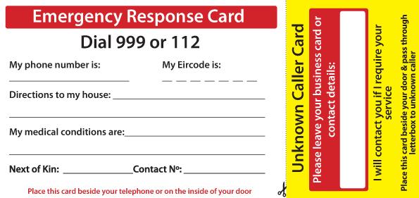 Emergency Response Card