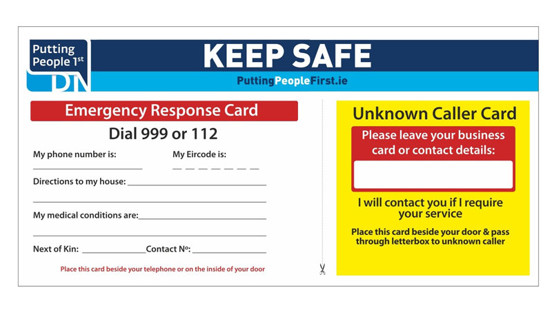 Keep Safe Card - Denis Naughten